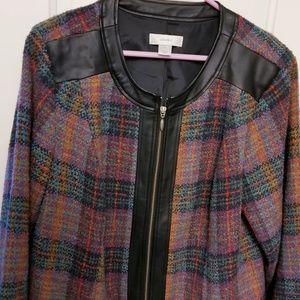 C.J. Banks zip front wool blend jacket, fall color